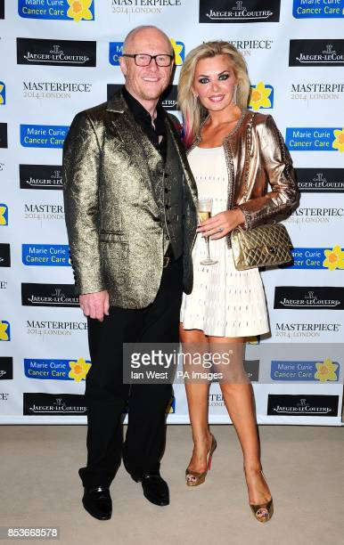 John Caudwell and Claire Johnson attending the Marie Curie Timeless Party at the Royal Hospital in Chelsea London