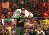 John Cena and Kevin Federline during WWE Monday Night RAW with Surprise Guest Kevin Federline at The Staples Center in Los Angeles California United...