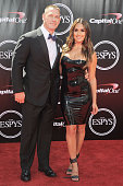 John Cena and Nikki Bella attend the 2016 ESPYS at Microsoft Theater on July 13 2016 in Los Angeles California