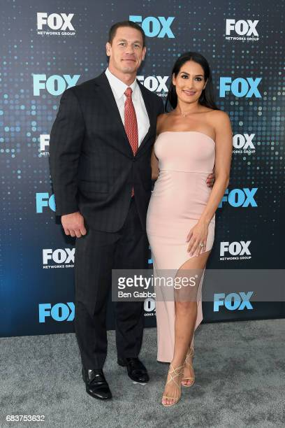 John Cena and Nikki Bella attend the 2017 FOX Upfront at Wollman Rink on May 15 2017 in New York City