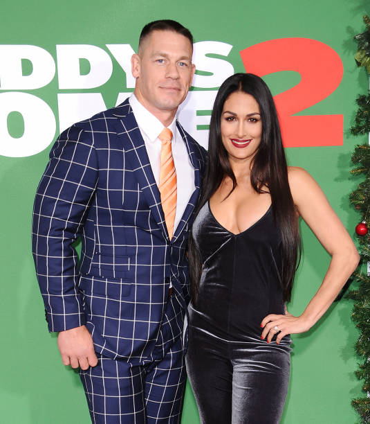 Nikki Bella and fiancee John Cena gushed about their wedding plans at the premiere of Daddy's Home 2
