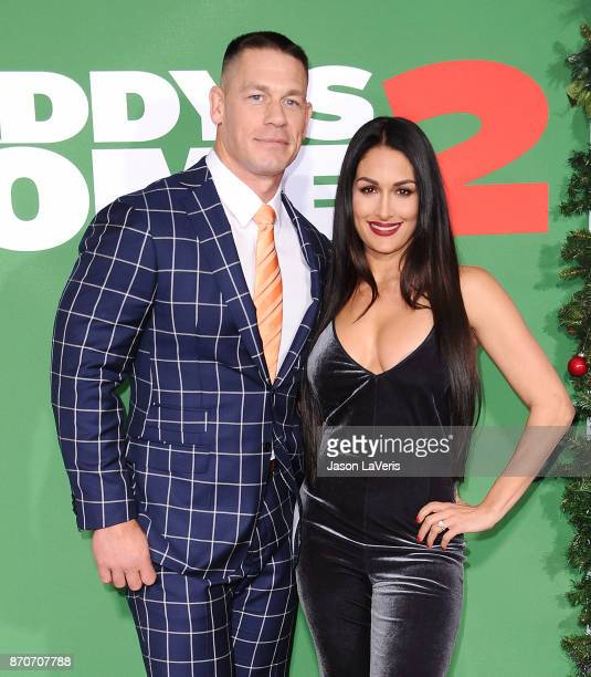 John Cena and Nikki Bella attend the premiere of 'Daddy's Home 2' at Regency Village Theatre on November 5 2017 in Westwood California