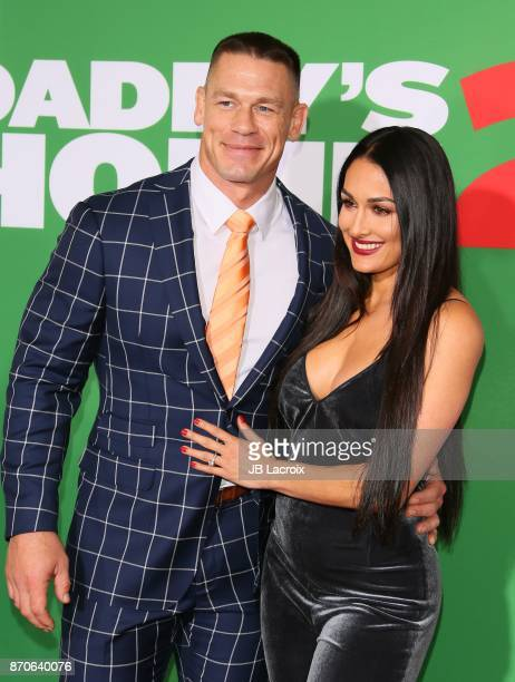 John Cena and Nikki Bella attend the premiere of Paramount Pictures' 'Daddy's Home 2' on November 5 2017 in Los Angeles California