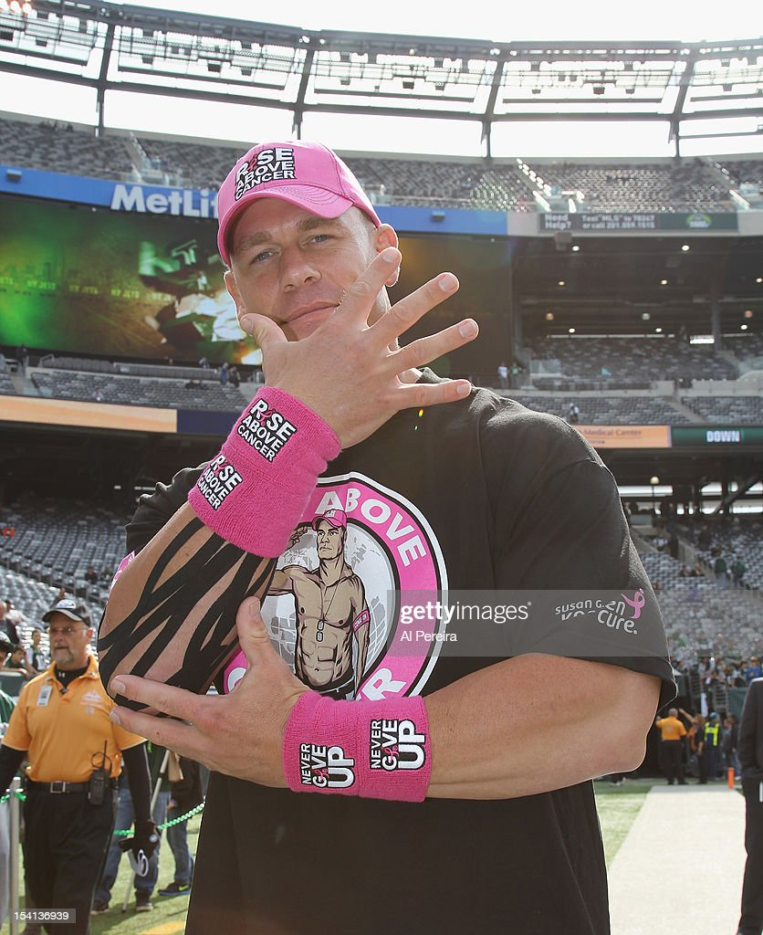 <a gi-track='captionPersonalityLinkClicked' href=/galleries/search?phrase=John+Cena&family=editorial&specificpeople=644116 ng-click='$event.stopPropagation()'>John Cena</a> attends the football game between the Jets and the Colts at the MetLife Stadium on October 14, 2012 in East Rutherford, New Jersey.