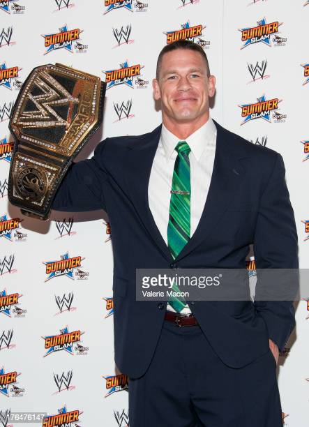 John Cena attends WWE SummerSlam Press Conference at Beverly Hills Hotel on August 13 2013 in Beverly Hills California