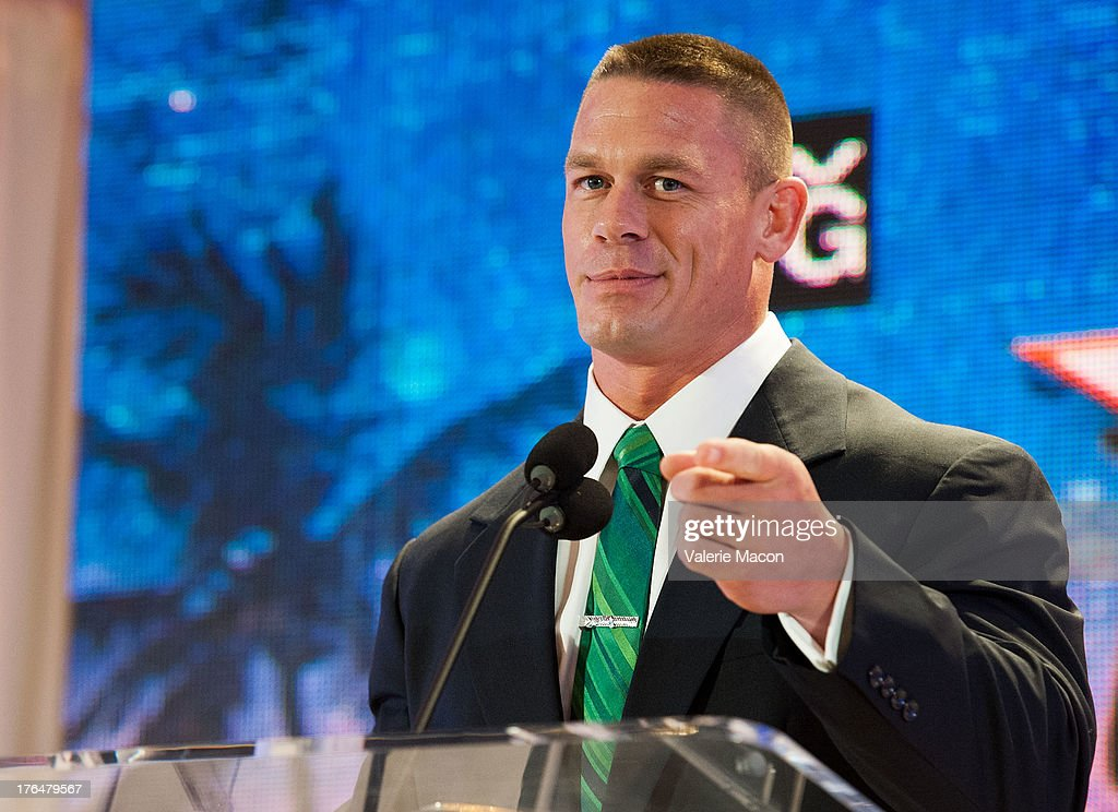 <a gi-track='captionPersonalityLinkClicked' href=/galleries/search?phrase=John+Cena&family=editorial&specificpeople=644116 ng-click='$event.stopPropagation()'>John Cena</a> attends WWE SummerSlam Press Conference at Beverly Hills Hotel on August 13, 2013 in Beverly Hills, California.