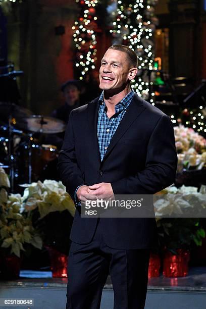 LIVE 'John Cena' Episode 1713 Pictured Host John Cena during the monologue on December 10 2016
