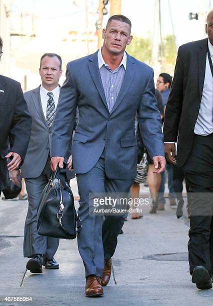 John Cena is seen in Hollywood on March 25 2015 in Los Angeles California