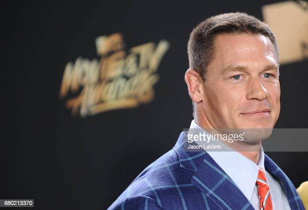 John Cena poses in the press room at the 2017 MTV Movie and TV Awards at The Shrine Auditorium on May 7 2017 in Los Angeles California