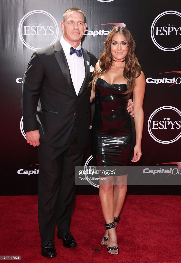 John Cena snd Nikki Bella attend The 2016 ESPYS at Microsoft Theater on July 13, 2016 in Los Angeles, California.