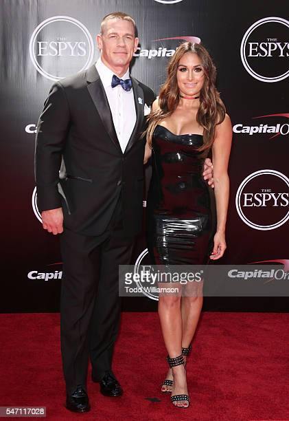 John Cena snd Nikki Bella attend The 2016 ESPYS at Microsoft Theater on July 13 2016 in Los Angeles California