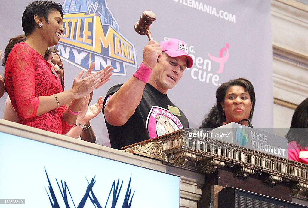 <a gi-track='captionPersonalityLinkClicked' href=/galleries/search?phrase=John+Cena&family=editorial&specificpeople=644116 ng-click='$event.stopPropagation()'>John Cena</a> visits at New York Stock Exchange on April 5, 2013 in New York City.