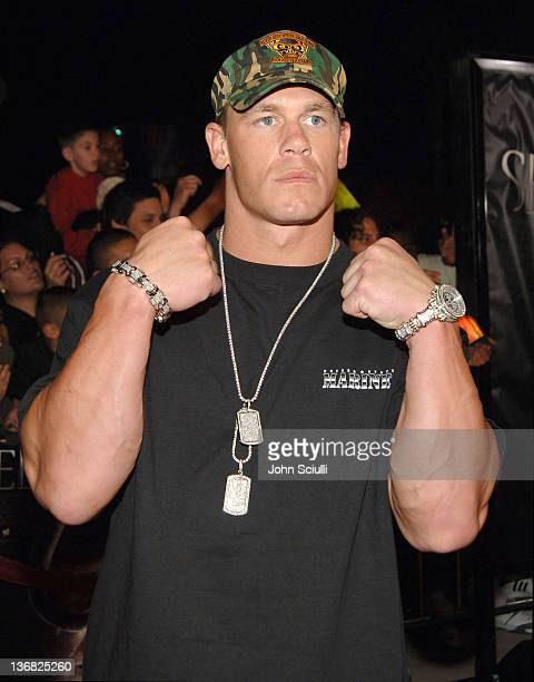 John Cena WWE Champion during 'See No Evil' Premiere Arrivals in Los Angeles California United States