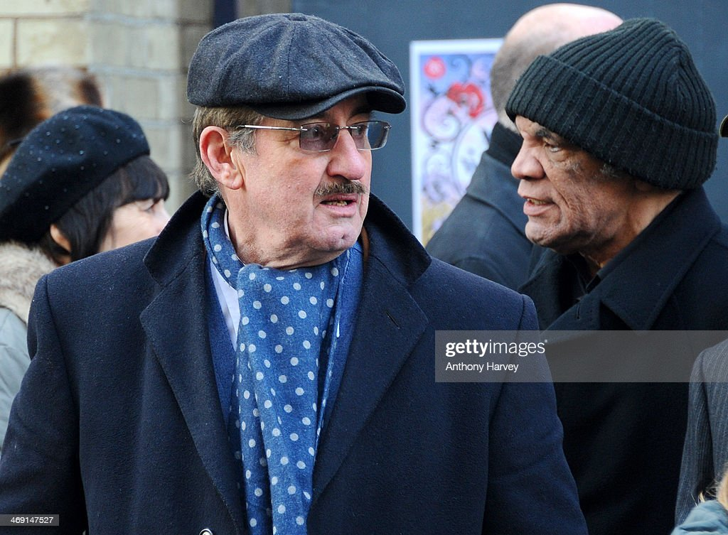John Challis leaves the funeral of actor Roger Lloyd-Pack at St Paul's Church on February 13, 2014 in London, England.