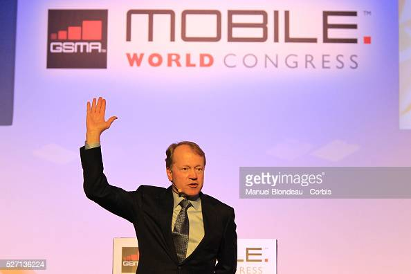 John Chambers chief executive officer of Cisco Systems Inc speaks during a keynote event at the Mobile World Congress in Barcelona Spain on Tuesday...