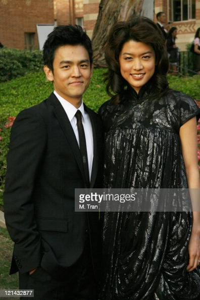 John Cho and Grace Park during 2007 AZN Asian Excellence Awards Arrivals at Royce Hall UCLA Campus in Westwood California United States