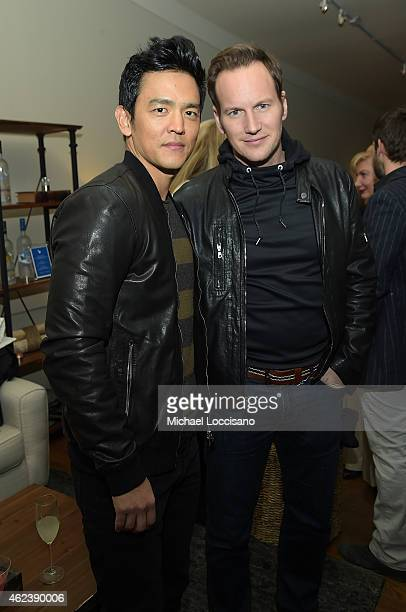 John Cho and Patrick Wilson attend the 'Zipper' cast party at GREY GOOSE Blue Door during Sundance on January 27 2015 in Park City Utah
