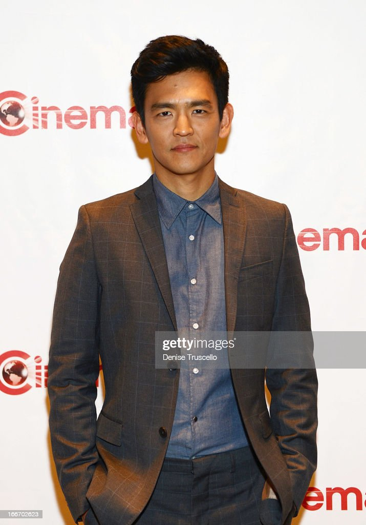 John Cho arrives at CinemaCon 2013 Paramount opening night party and presentation at Caesars Palace on April 15, 2013 in Las Vegas, Nevada.