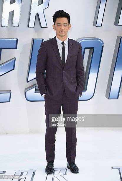 John Cho arrives for the UK premiere of 'Star Trek Beyond' at Empire Leicester Square on July 12 2016 in London UK