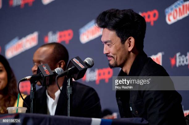 John Cho attends the 'The Exorcist' panel during the 2017 New York Comic Con Day 4 on October 8 2017 in New York City