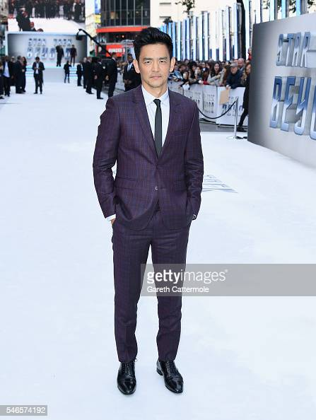 John Cho attends the UK Premiere of Paramount Pictures 'Star Trek Beyond' at the Empire Leicester Square on July 12 2016 in London England
