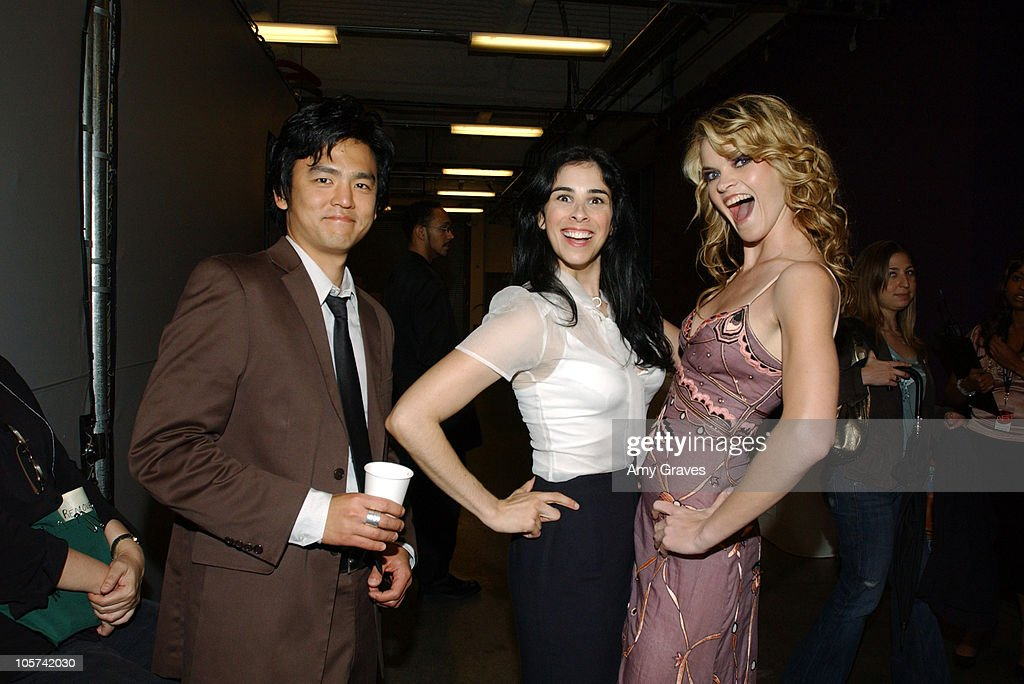 John Cho Sarah Silverman and Missi Pyle during The Hollywood Reporter's 34th Annual Key Art Awards Backstage at Kodak Theatre in Hollywood California...