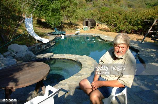 John Clark husband of Lynn Redgrave in the room where he confessed to Lynn about his fathering a child at their Topanga Ranch home The house is part...