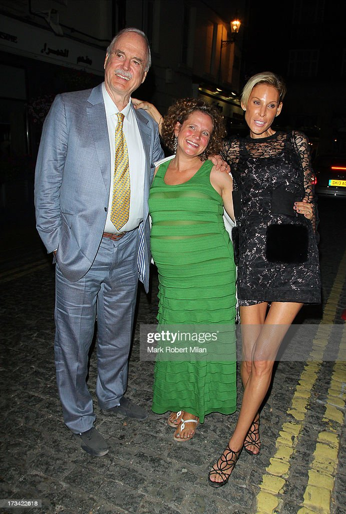 John Cleese and Jennifer Wade at Lou Lou's club on July 13, 2013 in London, England.
