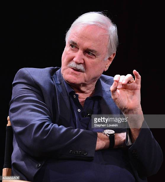 John Cleese attends the Monty Python Press Conference during the 2015 Tribeca Film Festival at SVA Theater on April 24 2015 in New York City