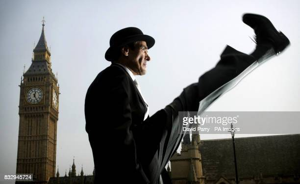 John Cleese lookalike Ed Wells in Westminister London to launch the 'Ministry of Common Sense' helping people to think about how to avoid being a...