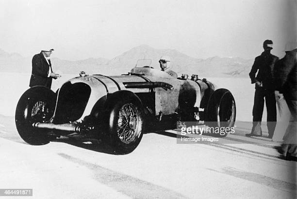John Cobb in his NapierRailton Bonneville Salt Flats Utah USA c1935c1936 Cobb drove this car to set a record speed for a 24 hour period of 13485 mph...
