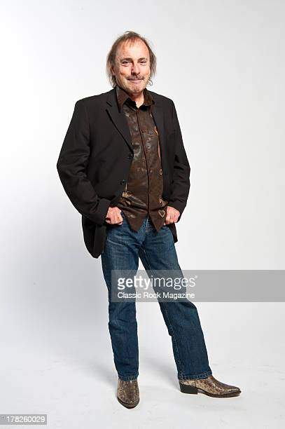 John Coghlan drummer of English rock band Status Quo photographed during a portrait shoot for Classic Rock Magazine November 13 2012