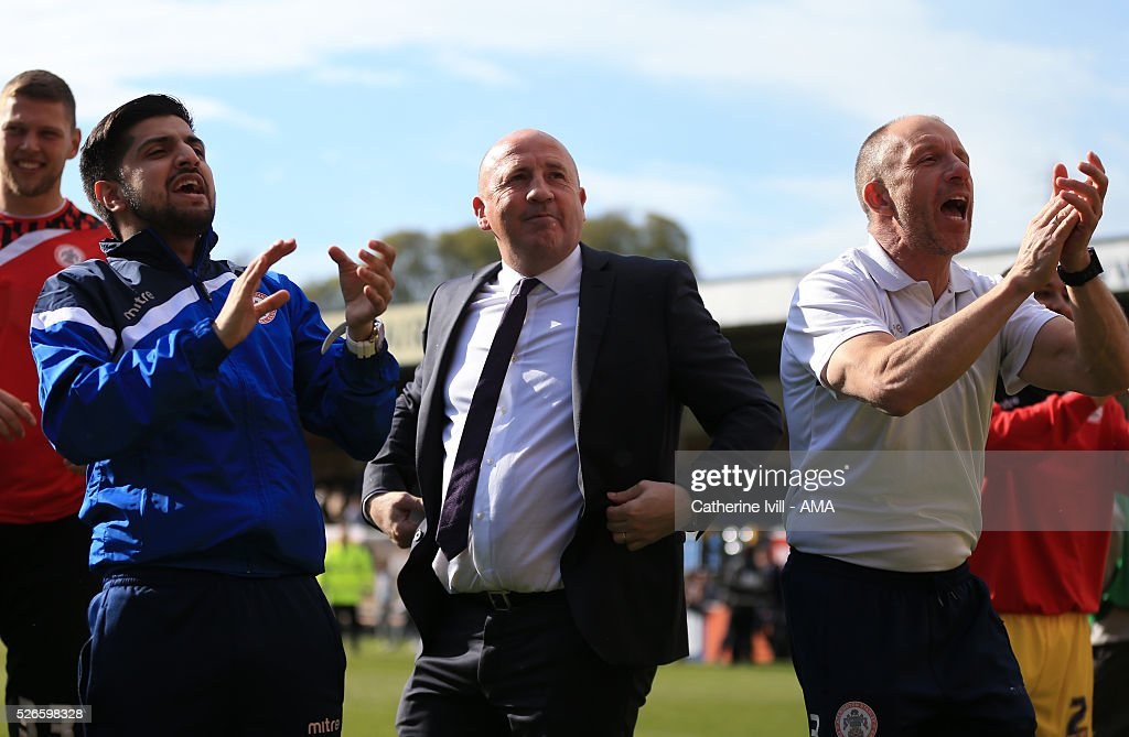 John Coleman manager of Accrington Stanley after the Sky Bet League Two match between Wycombe Wanderers and Accrington Stanley at Adams Park on April 30, 2016 in High Wycombe, England.