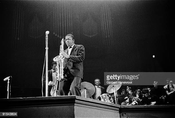 John Coltrane performs live at the Concertgebouw in Amsterdam on October 27 1963