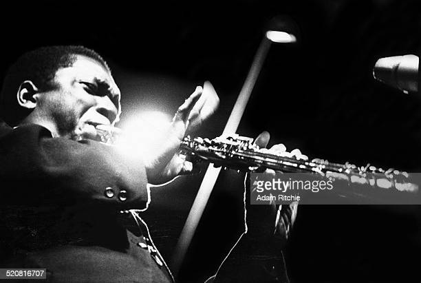 John Coltrane performs on stage at the Half Note club New York 1965