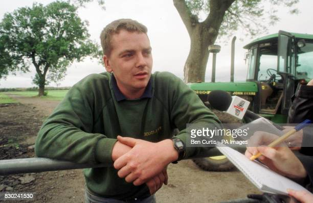 John Connell from Middleton farm near the scene of a light plane crash in Linwood Scotland told reporters how he was one of the first on the scene...