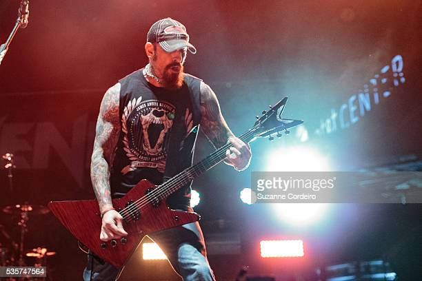 John Connolly of the bandSevendust performs onstage during River City Rockfest at ATT Center on May 29 2016 in San Antonio Texas