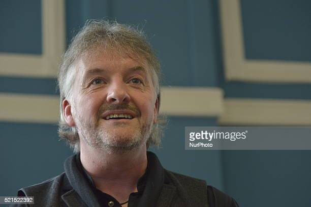John Connolly speaking at a Waterstones event in Manchester Greater Manchester England United Kingdom on Friday 15th April 2016