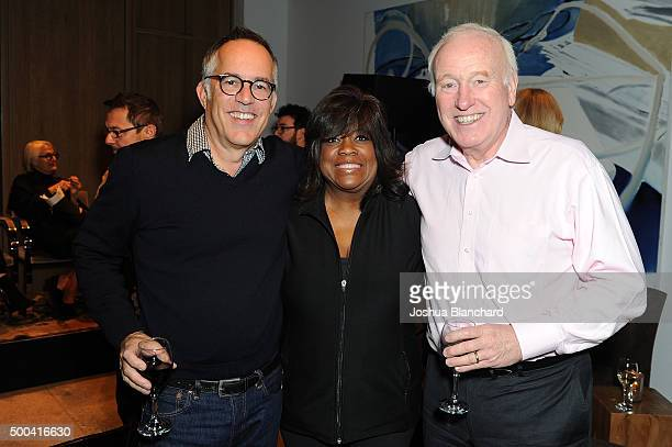 John Cooper Chaz Ebert and Terry Tayerman attend the Sundance Institute Cocktails with Cooper at NeueHouse Los Angeles on December 7 2015 in...
