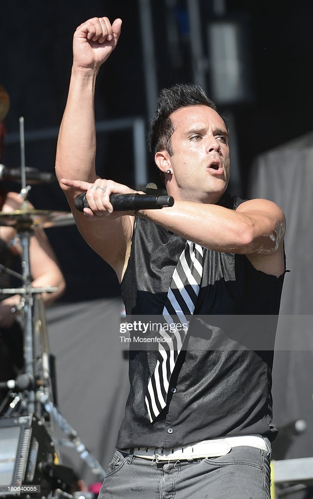 John Cooper of Skillet performs as part of the Aftershock Music Festival at Discovery Park on September 14, 2013 in Sacramento, California.