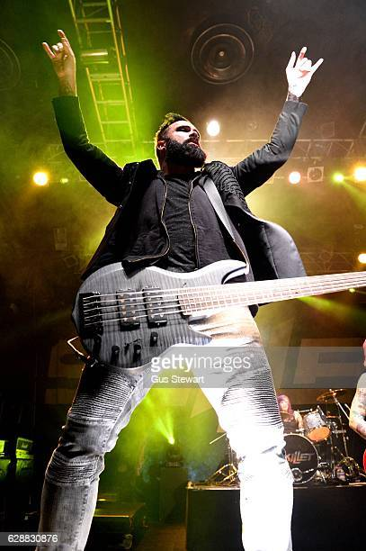 John Cooper of Skillet performs on stage at KOKO on December 9 in London England
