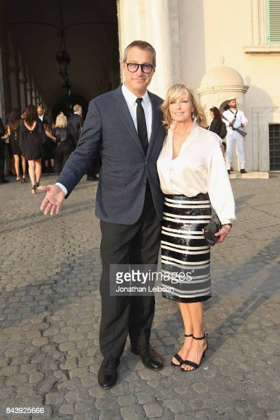 John Corbett and Bo Derek attend the Dinner and Entertainment at Palazzo Colonna as part of the 2017 Celebrity Fight Night in Italy Benefiting The...