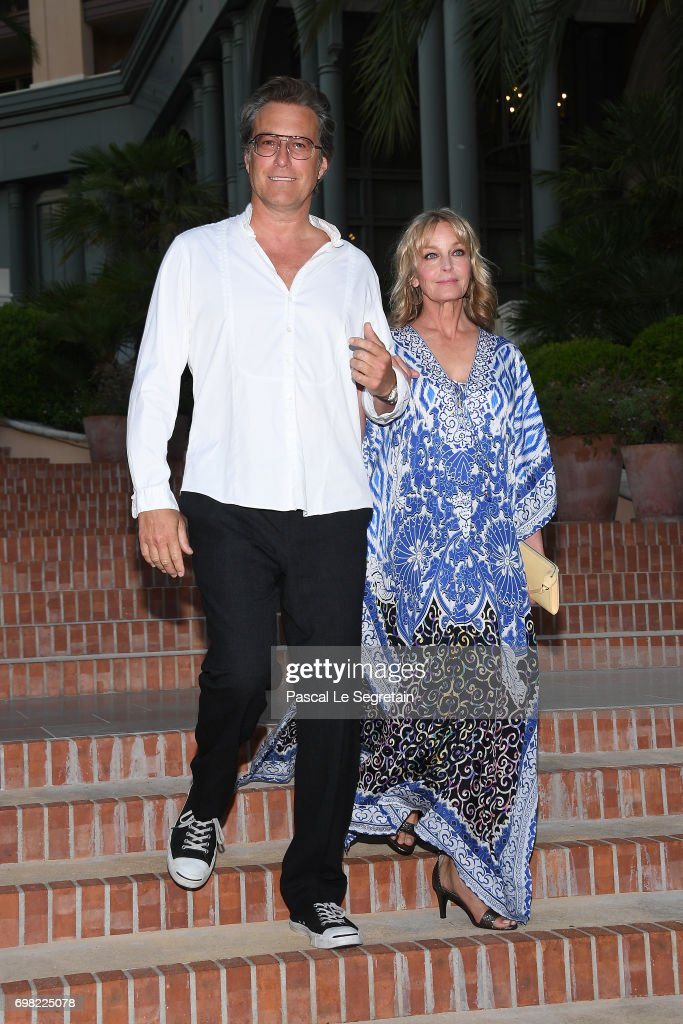 John Corbett and Bo Derek attend the Golden Nymph Nominees party at the Monte Carlo Bay hotel on day 4 of the 57th Monte Carlo TV Festival on June 19, 2017 in Monte-Carlo, Monaco.