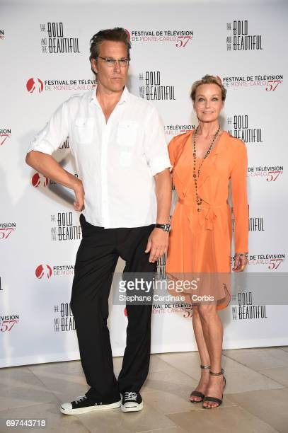 John Corbett and Bo Derek attend the 'The Bold and The Beautiful' 30th Anniversary during the 57th Monte Carlo TV Festival Day 3 on June 18 2017 in...
