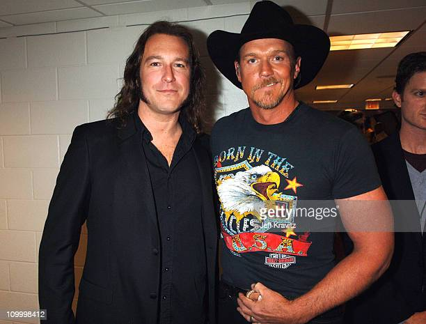 John Corbett and Trace Adkins during 2006 CMT Music Awards Backstage and Audience at Curb Events Center at Belmont University in Nashville Tennessee...