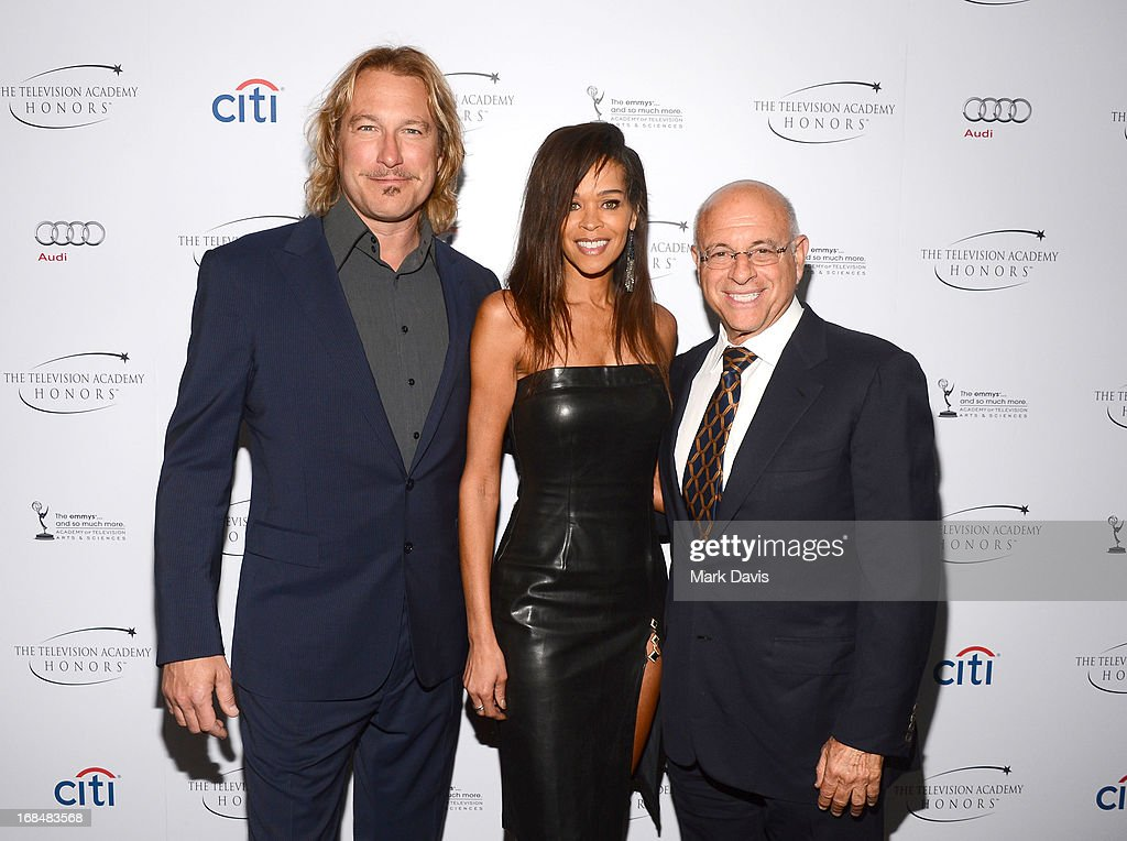 <a gi-track='captionPersonalityLinkClicked' href=/galleries/search?phrase=John+Corbett&family=editorial&specificpeople=221714 ng-click='$event.stopPropagation()'>John Corbett</a>, Kimmarie Johnson and Dan Paulson attend the '6th Annual Television Academy Honors' held at the Beverly Hills Hotel on May 9, 2013 in Beverly Hills, California.