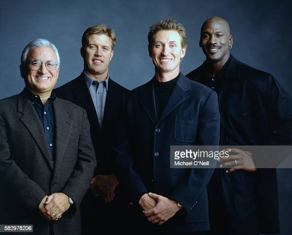 John Costello John Elway Wayne Gretsky and Michael Jordan