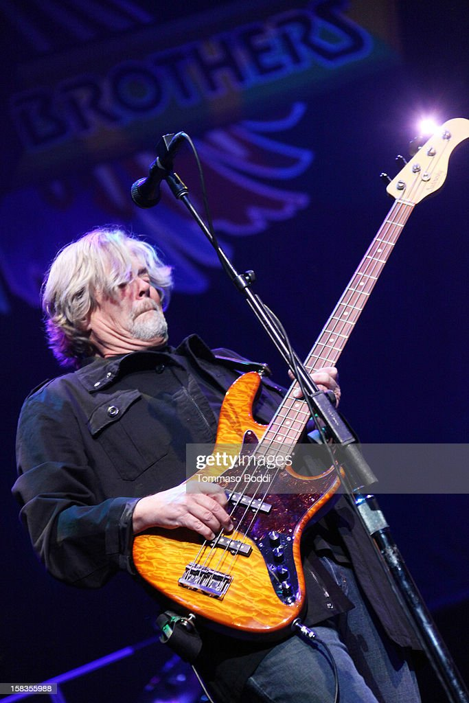 John Cowan of The Doobie Brothers performs at the 95.5 KLOS Christmas Show held at Nokia Theatre L.A. Live on December 13, 2012 in Los Angeles, California.