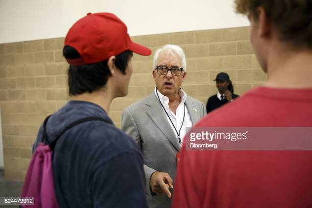 John Cox 2018 California gubernatorial Republican candidate speaks with attendees during the Politicon convention inside the Pasadena Convention...