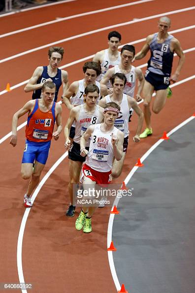 John Crain of North Central and Haverford's Chris Stadler lead the pack of runners in the Men's 5000 Meter Run at the Division III Men's and Women's...